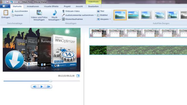 Windows Movie Maker: Videos zusammenstellen, schneiden ©COMPUTER BILD