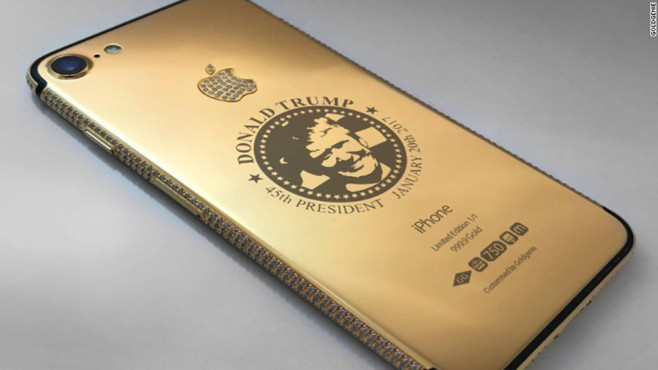 Goldgenie Donald Trump iPhone 7 ©Goldgenie