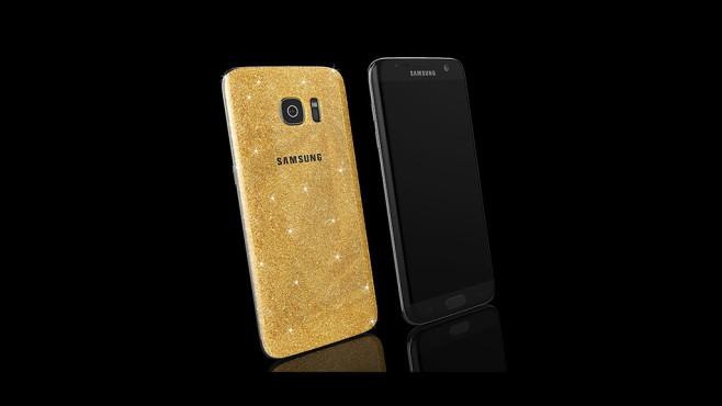 Goldgenie Samsung Galaxy S7 Edge Gold Stardust ©Goldgenie