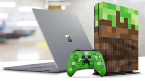 Surface i7, Xbox One S © Microsoft, ©istock.com/Spiderstock
