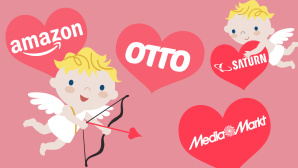 Valentinstag-Angebote bei Amazon, Otto, Media Markt, Saturn © Media Markt, Saturn, Otto, Amazon, iStock.com/Ozpk