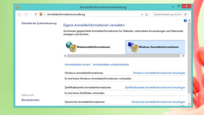 Anmeldeinformationsverwaltung©COMPUTER BILD