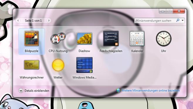 Desktop-Minianwendungen ©COMPUTER BILD
