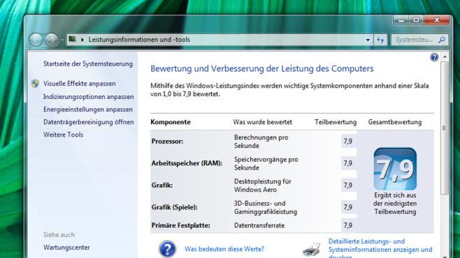 Leistungsinformationen und -tools ©COMPUTER BILD