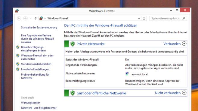 Windows-Firewall ©COMPUTER BILD