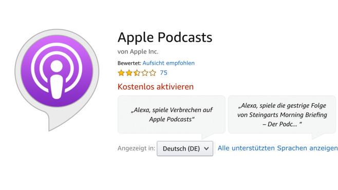 Apple Podcasts ©Amazon