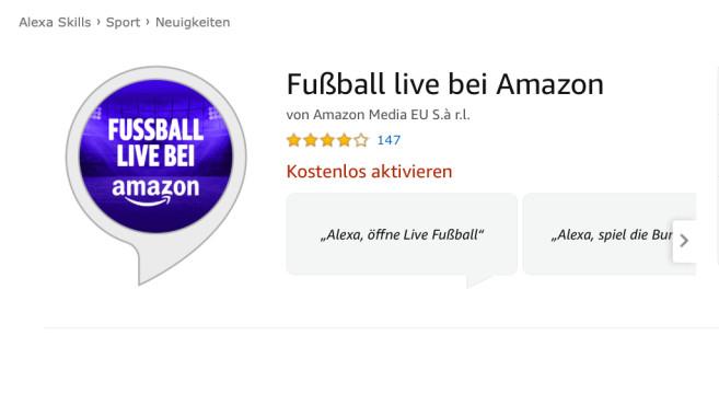 Fußball Live bei Amazon ©Amazon