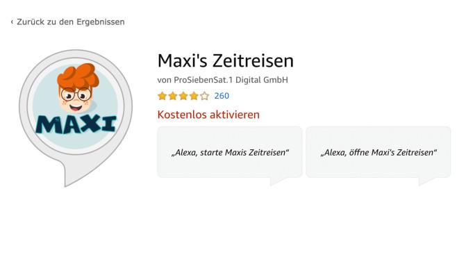 Maxi's Zeitreisen ©Amazon
