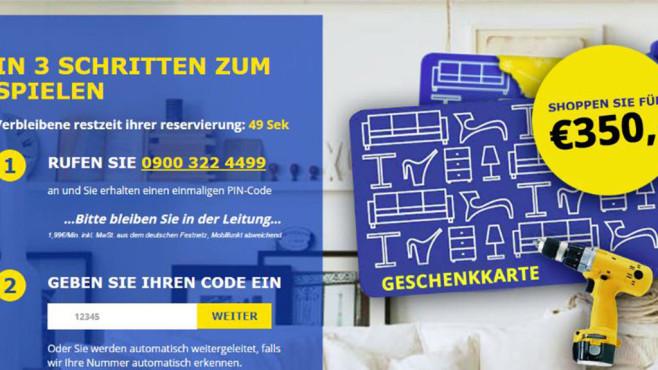 Phishing: Warnung vor angeblichem IKEA-Gewinn©www.onlinewarnungen.de
