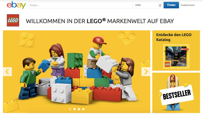 Lego-Markenwelt auf Ebay©Ebay/Lego/Screenshot