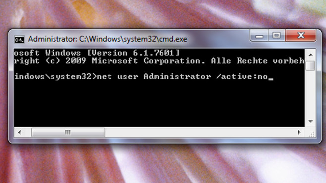 Admin-Konto deaktivieren ©COMPUTER BILD