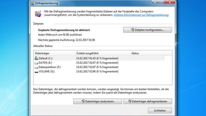 Defragmentieren gegen Datenrettung ©COMPUTER BILD