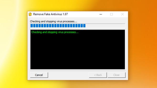 Falsche Freude? Remove Fake Antivirus ansetzen ©COMPUTER BILD