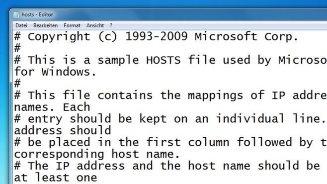 Hosts-Datei bereinigen ©COMPUTER BILD
