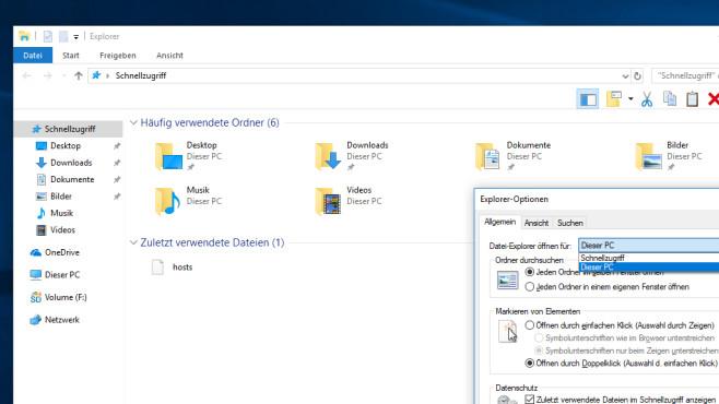 Windows-10-Explorer mit Schnellzugriff ©COMPUTER BILD