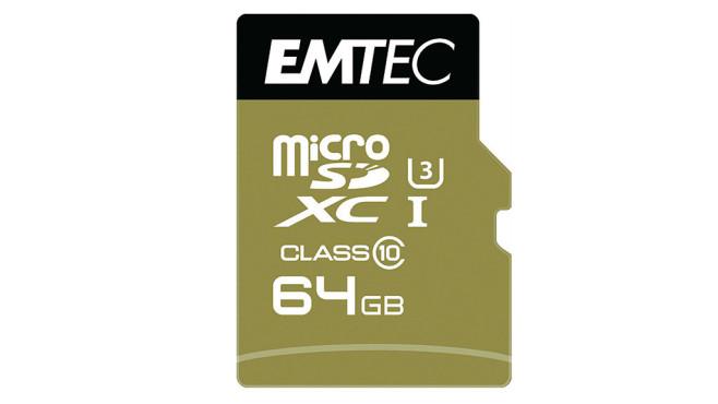 Emtec microSDXC 64GB Class 10 Speedin (ECMSDM64GXC10SP) ©Emtec