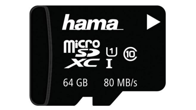 Hama microSDXC UHS-I U3 80MB/s - 64GB ©Hama