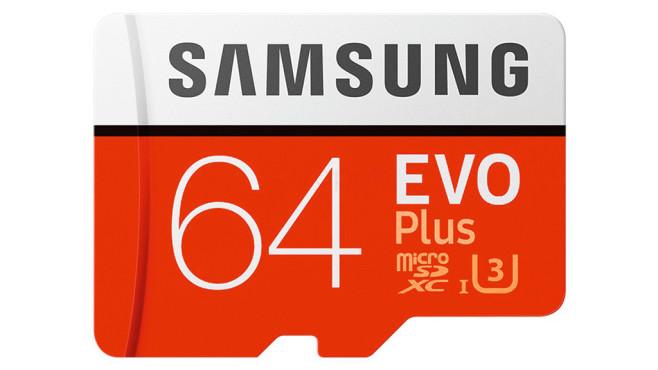 Samsung EVO Plus (2017) microSDXC 64GB (MB-MC64GA) ©Samsung