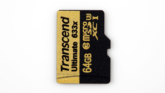 Transcend microSD 633x Ultimate 64 GB Class 10 UHS-I U3 (TS64GUSDU3)©COMPUTER BILD
