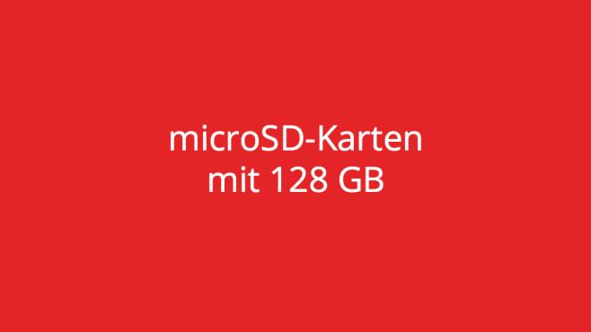 microSD-Karten mit 128 GB ©COMPUTER BILD
