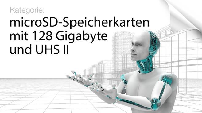 microSD-Speicherkarten mit 128 Gigabyte und UHS-II ©Giovanni Cancemi - Fotolia.co, mozZz - Fotolia.com, krooogle - Fotolia.com