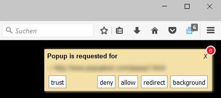 Screenshot 1 - Popup Blocker für Firefox
