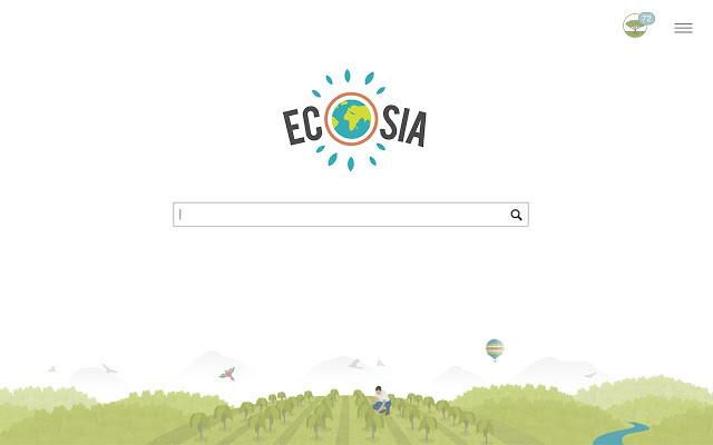 Screenshot 1 - Ecosia - Die Suchmaschine, die Bäume pflanzt für Chrome
