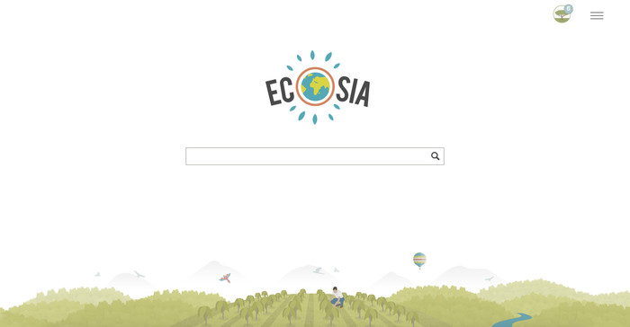 Screenshot 1 - Ecosia - Die Suchmaschine, die Bäume pflanzt für Firefox