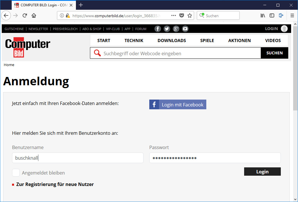 Screenshot 1 - Password Depot für Firefox
