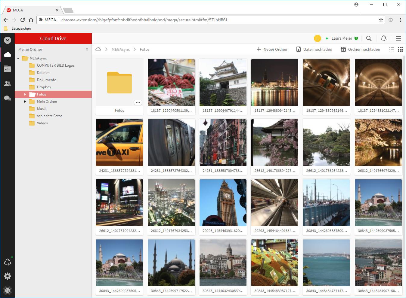 Screenshot 1 - Mega für Chrome