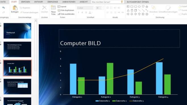 Platz 13: Microsoft PowerPoint Online (Vormonat: Platz 16) ©COMPUTER BILD