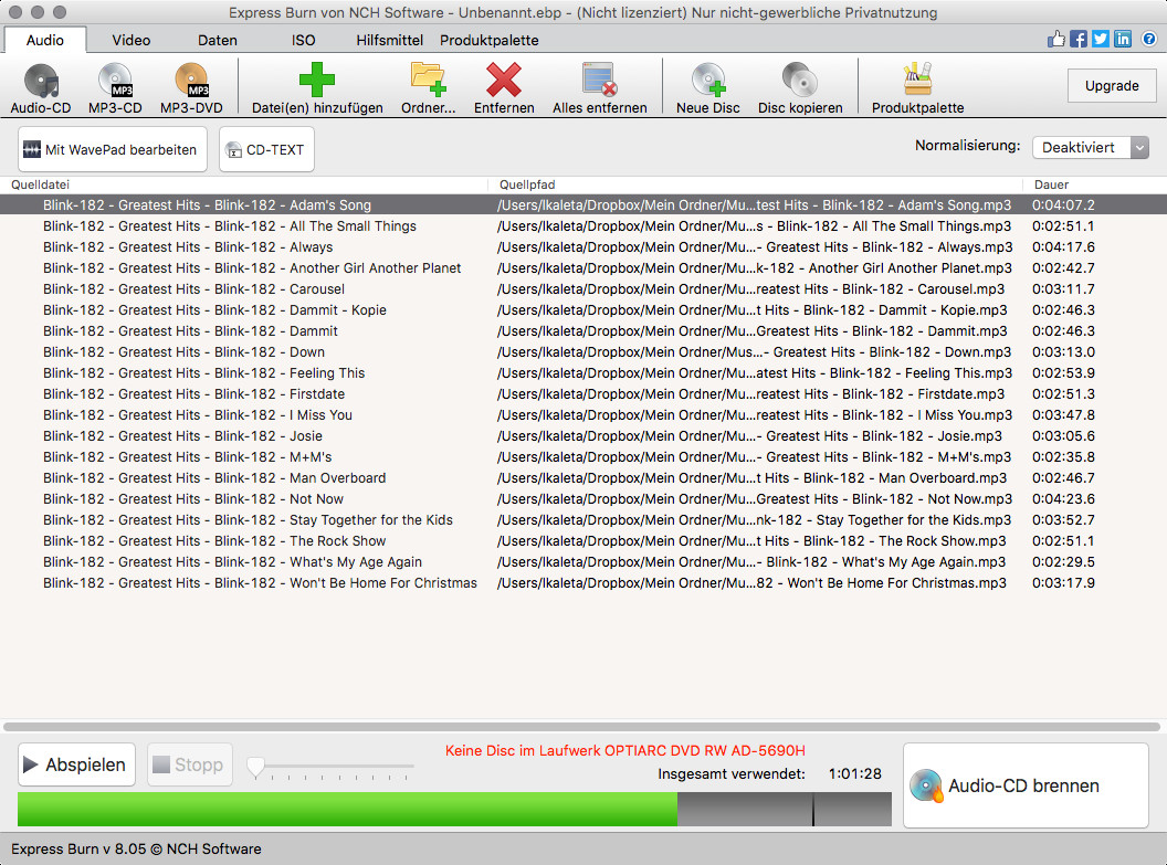 Screenshot 1 - Express Burn (Mac)