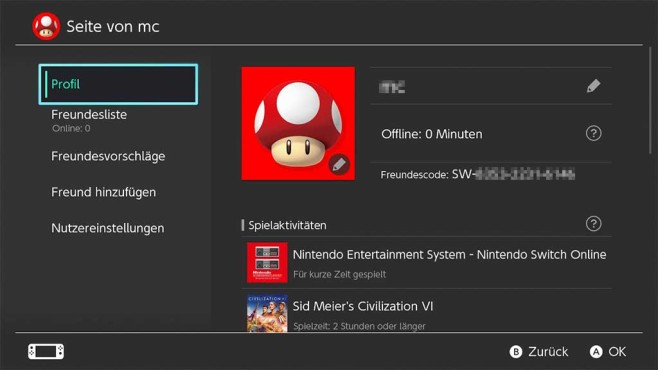 Nintendo Switch: Freundescode©Nintendo, COMPUTER BILD SPIELE
