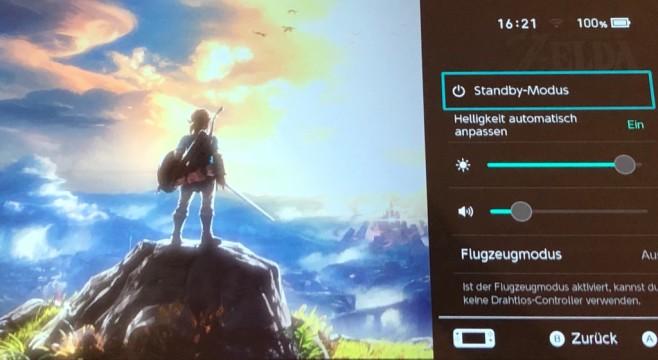 Nintendo Switch: Schnellmenü©Nintendo, COMPUTER BILD SPIELE