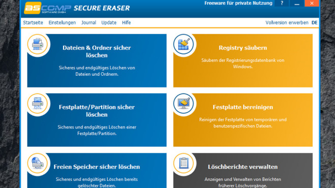 Secure Eraser: Löschen und nachbereinigen ©COMPUTER BILD