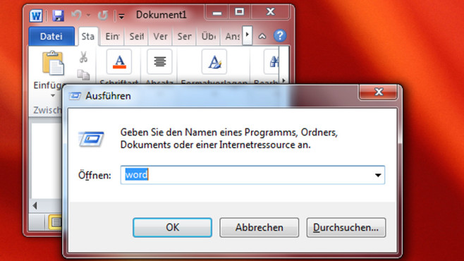 Ausführen-Dialog-Befehle nicht gut einzuprägen ©COMPUTER BILD