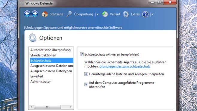 Windows Defender: Echtzeit-Scan ©COMPUTER BILD