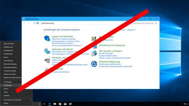 """Windows 10: Microsoft entfernt die Systemsteuerung – was zu tun ist Das """"System steuern"""" – das geht bei neueren Windows-10-Varianten nicht mehr so einfach.©Microsoft"""