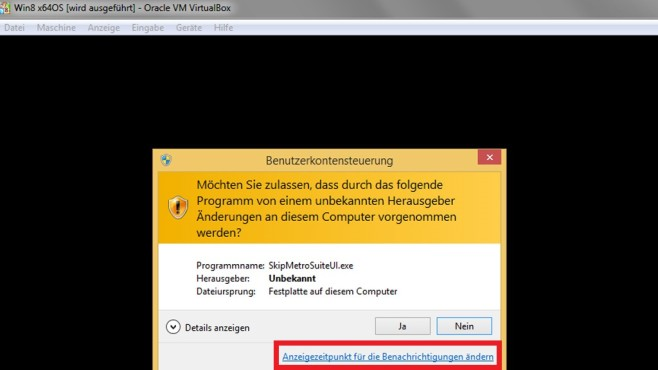 Benutzerkonten-Steuerung per UAC-Link justieren ©COMPUTER BILD