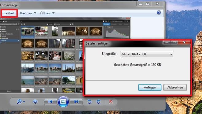 Bilder verkleinern per Fotoanzeige ©COMPUTER BILD