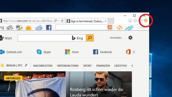 Windows 10: Feedback zum Internet Explorer ©COMPUTER BILD