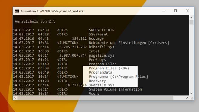 Windows 10: Kommandozeile mit Tastenkürzeln ©COMPUTER BILD
