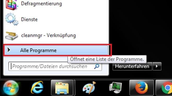 Windows 7: Startmenü-Untermenü ohne Klick öffnen ©COMPUTER BILD