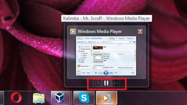 Windows Media Player: Kontrollfeld fürs Abspielen ©COMPUTER BILD