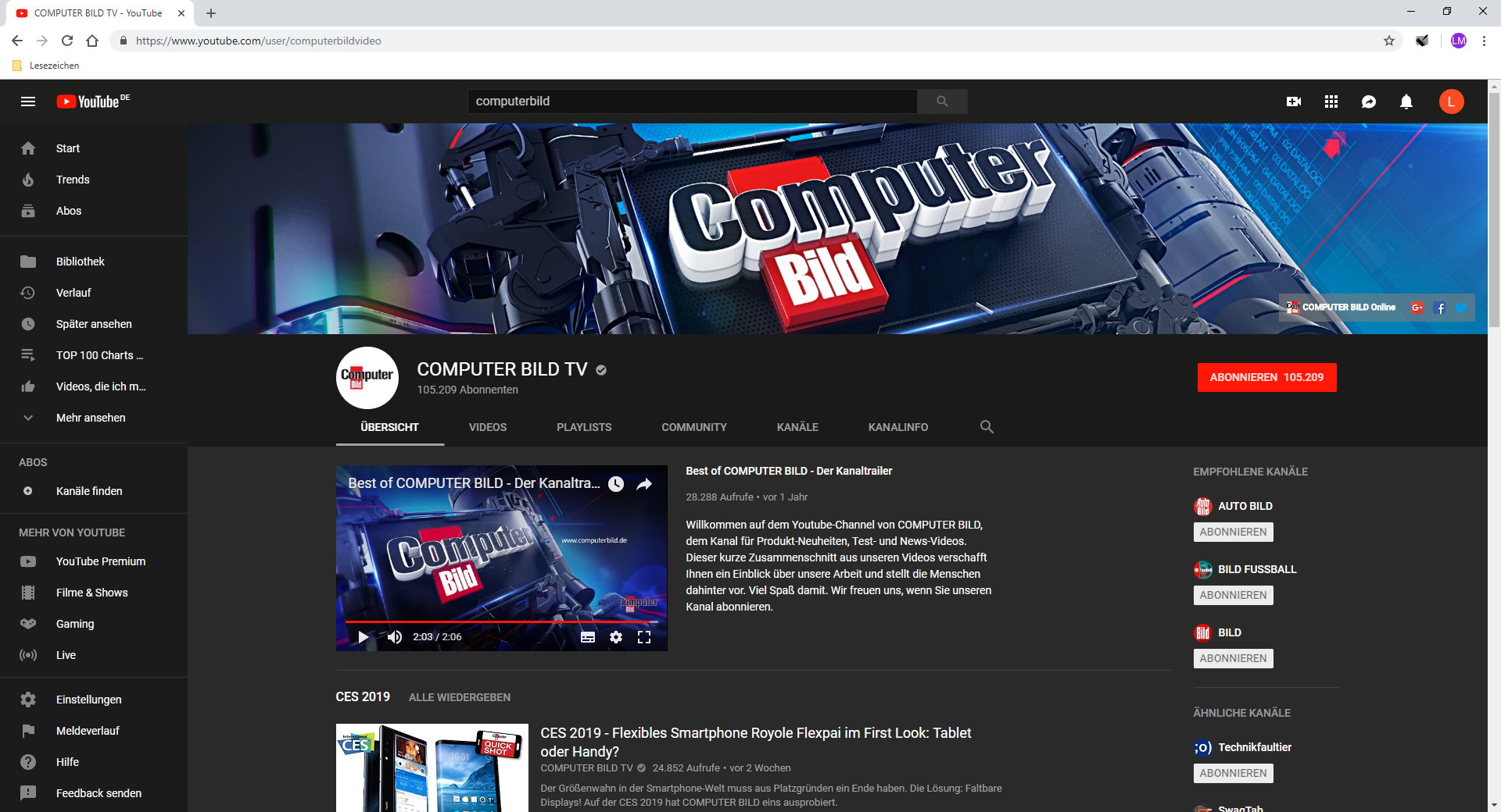 Screenshot 1 - YouTube Dark Theme für Chrome