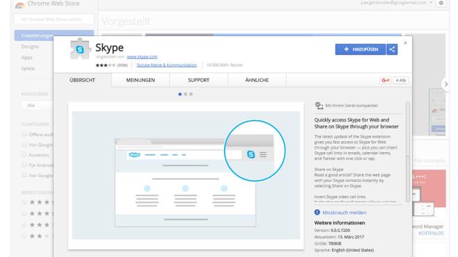 Skype: Chrome©Skype