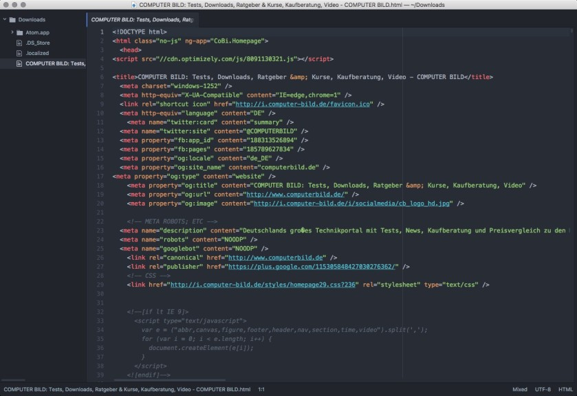 Screenshot 1 - Atom (Mac)