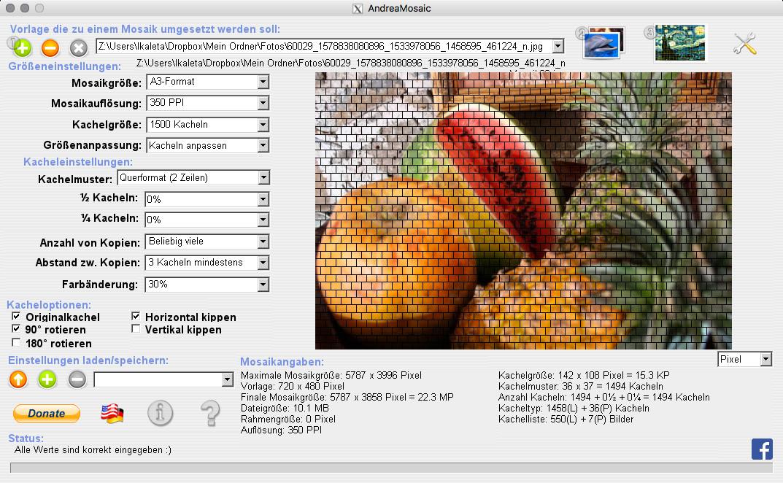 Screenshot 1 - AndreaMosaic (Mac)