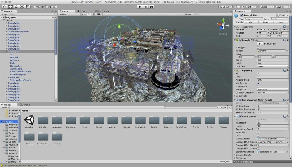 Screenshot 1 - Unity Engine (Mac)