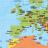 Icon - Weltkarte als PDF zum Ausdrucken